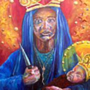 Erzulie Dantor Portrait Art Print by Christy  Freeman