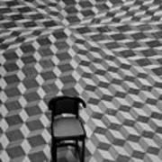 Escher-like Chair Art Print