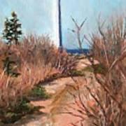 Escuminac Lighthouse Art Print