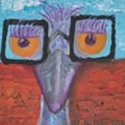 Esmeralda The Emu Art Print