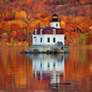 Esopus Lighthouse In Late Fall #3 Art Print