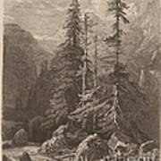 Essais De Gravure ? L'eau Forte Par Alexandre Calame, I, Pl. 21 Art Print