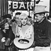 Estelle Winwood Marilyn Monroe Clark Gable Eli Wallach Montgomery Clift The Misfits Reno Nevada 1961 Art Print