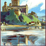 Esztergom, Beautiful City On Danube River, Hungary,  Art Print