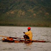 Ethiopia  Baiting A Longline On Lake Chamo Art Print