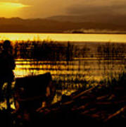 Ethiopia Catching Live-bait At Sundown On Lake Chamo Art Print