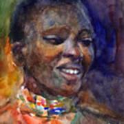 Ethnic Woman Portrait Art Print