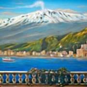 Etna Sicily Print by Italian Art