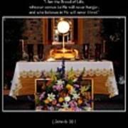 Eucharist I Am The Bread Of Life Art Print