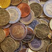 Euro Coins Art Print