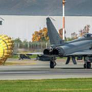 Eurofighter Typhoon 2000 With Parachute Art Print
