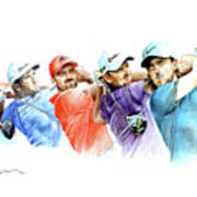European Golf Champions Race 2017 Art Print