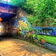 Evanston Grafitti Art. Art Print