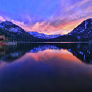 Evening At Fallen Leaf Lake Art Print