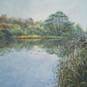 Evening At Southampton Common Lake Art Print