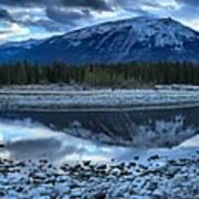 Evening At The Athabasca River Art Print