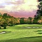 Evening Golf Course Scene Art Print