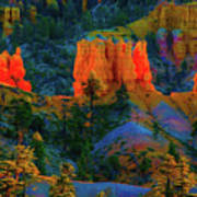 Evening In Bryce Canyon Art Print