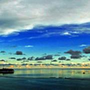 Evening In Paradise Panoramic Art Print