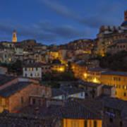 Evening In Siena Art Print