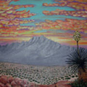 Evening In The Desert Art Print