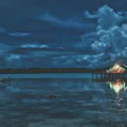 Evening In The Lagoon Art Print