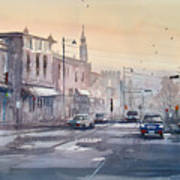 Evening Light In Appleton Art Print
