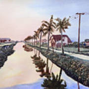 Evening Light Paramaribo Suriname Art Print