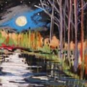 Evening Near The Pond Art Print by John Williams