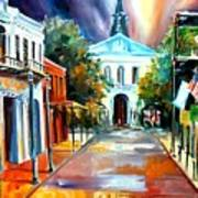 Evening On Orleans Street Art Print