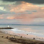 Evening On Seabright Beach Art Print