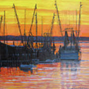 Evening On Shem Creek Art Print