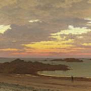 Evening On The Coast Art Print