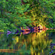 Evening On The Humber River - Paint Art Print