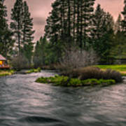 Evening On The Metolius Art Print