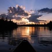 Evening Paddle On Spoon Lake Art Print