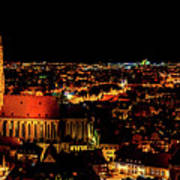 Evening Panorama - Landshut Germany Art Print