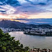 Evening Sky Over Rio De Janeiro Art Print