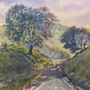 Evening Stroll In Millington Dale Art Print