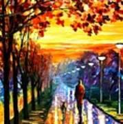 Evening Stroll Art Print