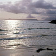 Evening The Isle Of Eigg  Inner Hebrides From The Beach At Arisaig Scotland Art Print