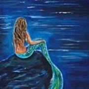 Evening Tide Mermaid Art Print
