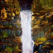 Evening Waterfall Art Print