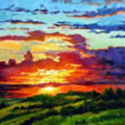 Evenings Final Glow Art Print