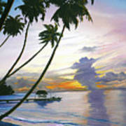 Eventide Tobago Art Print by Karin  Dawn Kelshall- Best