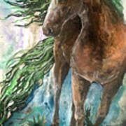 Ever Green  Earth Horse Art Print