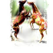 Everglades Ponies Art Print