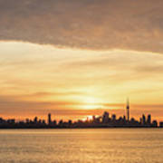 Every Morning Is Different - Toronto First Sunrays In Cyber Yellow  Art Print