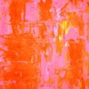 Everyone's Fav - Pink And Orange Abstract Art Painting Art Print