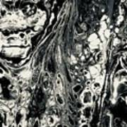 Evil In Black And White Art Print